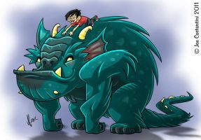 Piggy-Back Monster Color by JoeCostantini