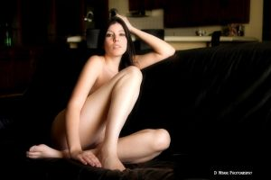 Black Leather Couch by dwingephotography