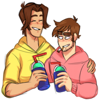 Paultryk having some smoothies by ManiacWithAPen