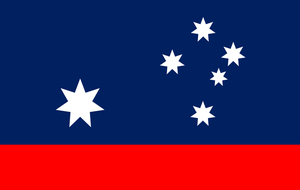 Australian flag without Britain. by Flagsdesigns