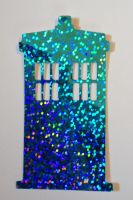 Doctor Who Tardis inspired Reflective Vinyl Decal by Drgibbs