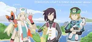 Pokemon L-D: character design by Reina-Kitsune
