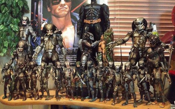 NECA Hot Toys and Narin Size Comparisons by PredatrHuntr