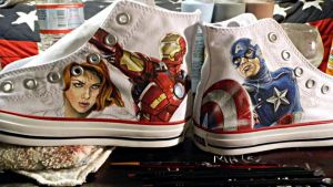 The Avengers Converse- WIP by GeeFreak
