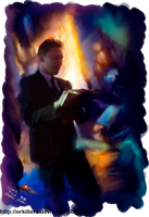 Tom Hiddleston oil effect by Erkillers
