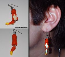 Charmander Dangly Earrings by ChibiSilverWings