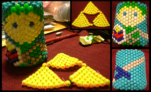 Tri Force kandi and Link Cuff by iCrave4Anime