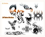 Tattoo Brush set by Snowiee