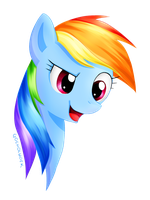 My Little Pony - Rainbow Dash Headshot 05.05.2015 by gocholudek