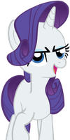 My seventh vector of, Rarity. by Flutterflyraptor