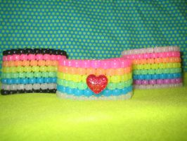 Rainbow Brite Candy Cuffs by La-La-Lunabelle