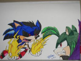 Virus Sonic vs. Dark Rocket by Junka-speed
