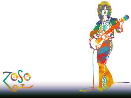 Jimmy Page Wallpaper White by zsabreuser