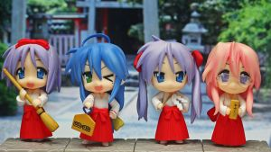 Nendo Lucky Star Shrine Maidens by OvermanXAN