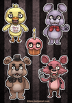 Five Nights At Freddy's Stickers by Kiibie