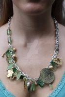 Light Leafy Green Necklace by TheFuzzyPineapple
