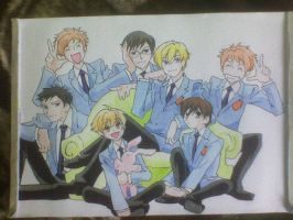 Ouran High School Host Club by wallabby