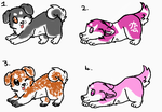 Adotables wolf puppies ^^ by chrono3456789