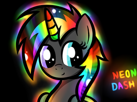 NEon DAsh by HeavyMetalBronyYeah