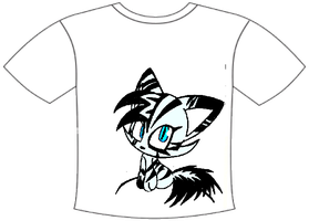 Sasha the ghost cat tshirt by creepyTechnician