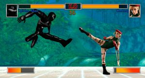 Street Fighter Spidey Vs Cammy by dead82