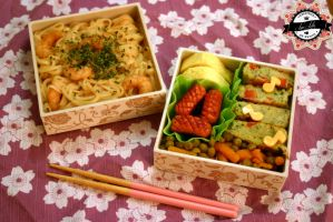 Bento lacquered shrimp by RiYuPai