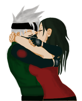 Kakashi and Hanare by Zukura7L