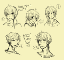 Adien and Cael Ref by AiSenpai