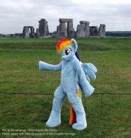Rainbow DAshy - At Stonehenge by AtalontheDeer