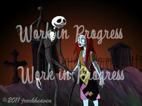 Jack and Sally -WIP- by Jrockheaven