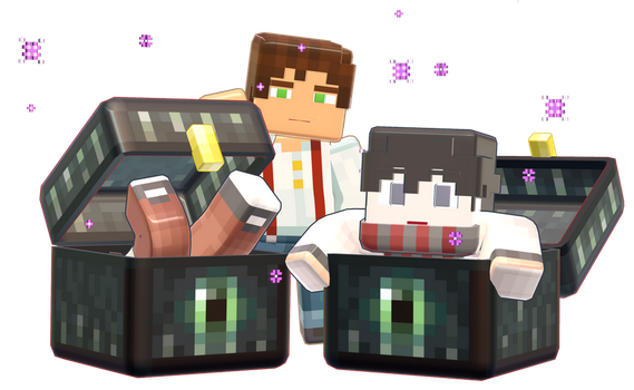 MMD Minecraft Smooth Steve preview ender chest by 495557939