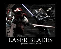 Laser Blades for Robots motiva by SirMeta