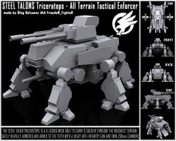 GDI STEEL TALONS Triceratops by FF-Design