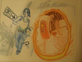 Chell and Glados Portal 2 by Tygirl181