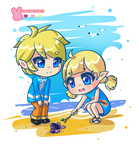 :TheWindWaker: Siblings by MeguBunnii