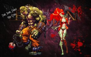 Killer Croc and Poison Ivy Arkham Asylum wallpaper by KrAm5597