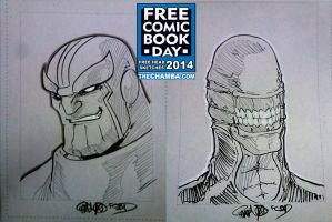 FCBD 2014 Sketches 29 - 30 by theCHAMBA