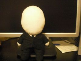 Slender Man chibi plush by CarpeCor