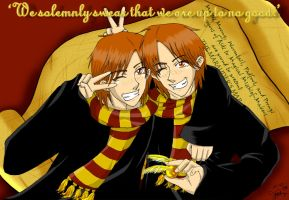 The Weasley Twins by lilkuma