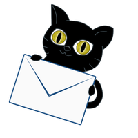 Black Cat  Logo contact by bl4ck-c4t-xiii