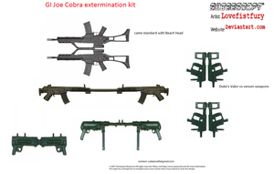 GI Joe rifle kit for cubees by lovefistfury