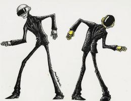 A Daft Punk Doodle by DonutTyphoon