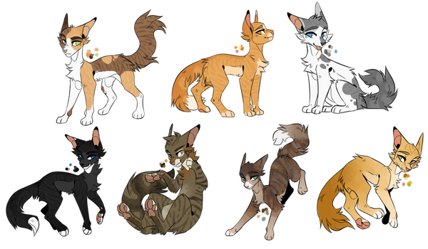 Warrior Cats Point Adoptables {CLOSE} {READ DESC} by NightGazingSkys