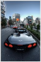 Shibuya's Corvette by Graphylight