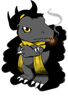 BlackAgumon Won't Take Your S#!7 by Radiant-Lyxill