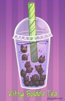 Kitty Bubble Tea by DragonBeak