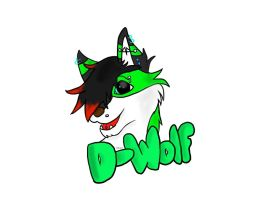 D-Wolf Con Badge by Silverfang98