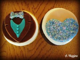 Prom Cupcakes by HigginsCustomCakes