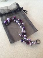 Cluster Bracelet - Dark Purple by WhiteMagicPriestess