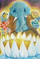 Ganesh for Peace Painting by Jarrad113